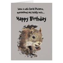 Funny Social Distancing Birthday Cute Squirrel
