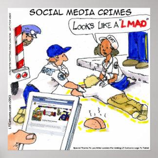 Funny Social Media Crimes Poster Print