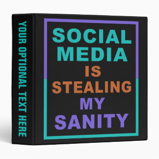 "Funny ""Social Media"" custom binders"