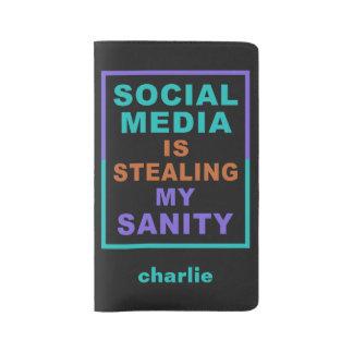 """Funny """"Social Media"""" custom name notebooks"""