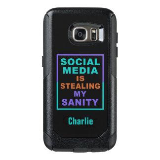 """Funny """"Social Media"""" custom name phone cases"""