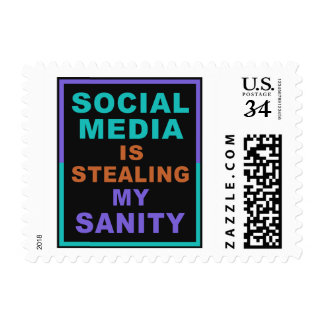 "Funny ""Social Media"" postage stamps"
