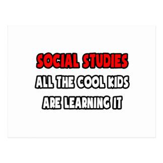 Funny Social Studies Teacher Shirts and Gifts Postcard