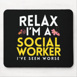 Funny Social Work Worker Gift Mouse Pad