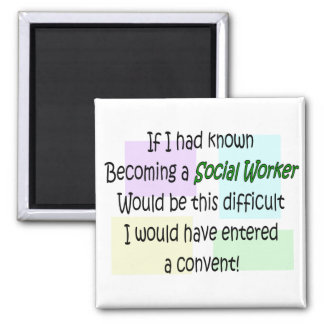 Funny Social Worker Gifts Magnet