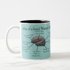 Funny Social Worker Gifts Two-Tone Coffee Mug