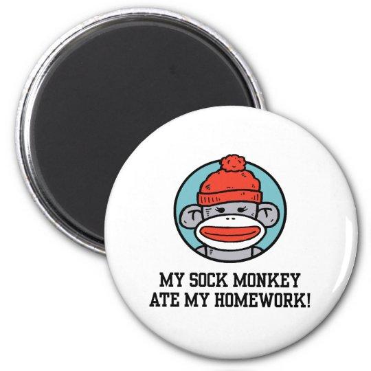 Funny Sock Monkey Magnet