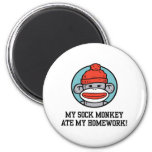 Funny Sock Monkey Magnets