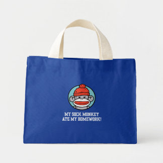 Funny Sock Monkey Mini Tote Bag