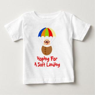 Funny Soft Landing Parachuting Baby Tee