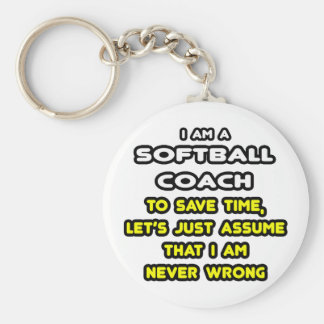 Funny Softball Coach T-Shirts and Gifts Keychain