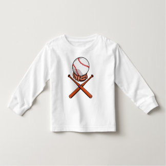 Funny Softball Jolly Roger Illustration Cartoon Toddler T-shirt