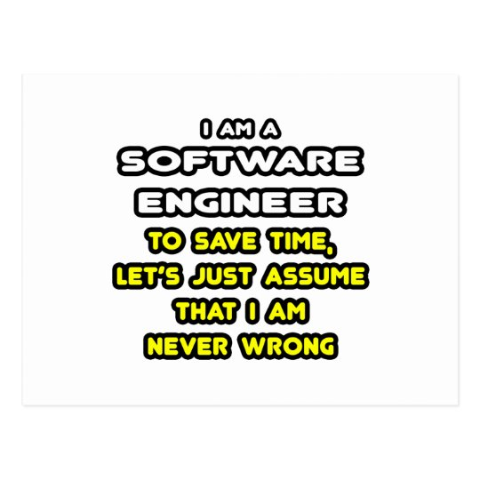 Funny Software Engineer T-Shirts and Gifts Postcard
