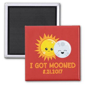Funny Solar Eclipse   I Got Mooned Magnet