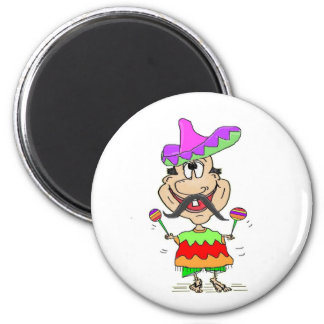FUNNY SOMBRERO MEXICAN GUY MAGNET