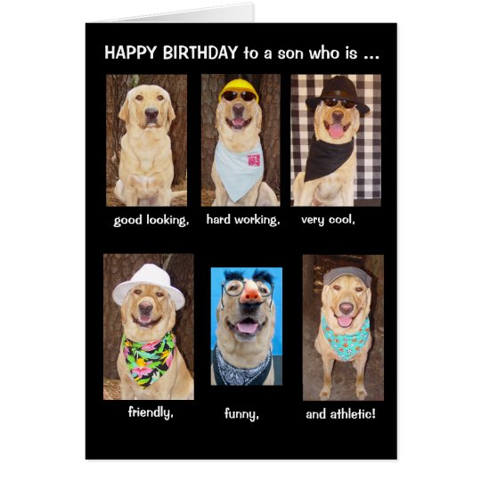 Funny Son Birthday Card – Funny Birthday Card for Son