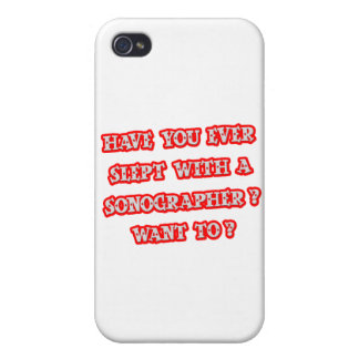 Funny Sonographer Pick-Up Line iPhone 4 Cover
