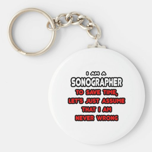 Funny Sonographer T-Shirts and Gifts Basic Round Button Keychain