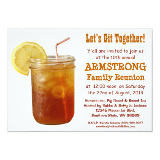 Funny Southern Family Reunion Sweet Tea Card
