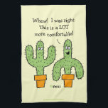 """Funny Southwest Desert Cactus Cartoon Kitchen Hand Towel<br><div class=""""desc"""">Cute Funny Southwest Desert Cactus Theme Cartoon towel for the kitchen features humorous cartoon cactus who has a better idea. Great gift to send friends not lucky enough to live in Arizona or Texas. Of course, this towel isn&#39;t limited to AZ residents. It&#39;s for anyone living in the American Southwest......</div>"""