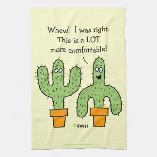 Funny Southwest Desert Cactus Theme Cartoon Hand Towel