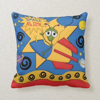 Funny Space Alien Pillow