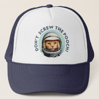 Funny Space Cat Trucker Hat
