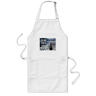 FUNNY SPACE FOOD APRON, ASTRONAUT, MOON GEEK APRON