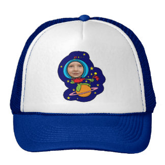 Funny Space Man Face Template Trucker Hat