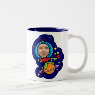 Funny Space Man Face Template Mugs