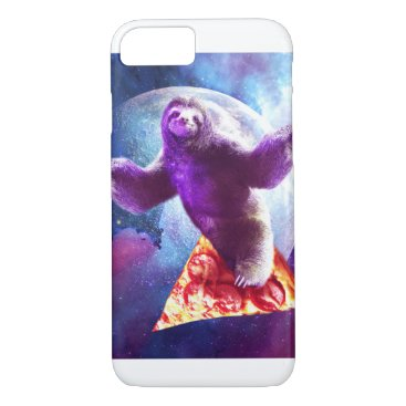 Funny Space Sloth With Pizza iPhone 8/7 Case