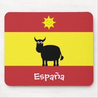 Funny Spanish Bull & Sun España Flag Mouse Pad