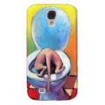 Funny Sphynx sphinx cat drinking Samsung Galaxy S4 Case