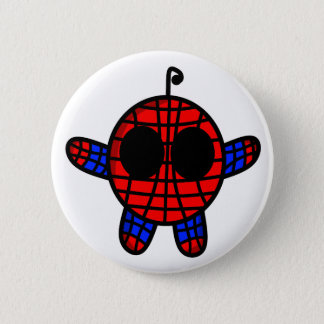 funny spideman dude pinback button
