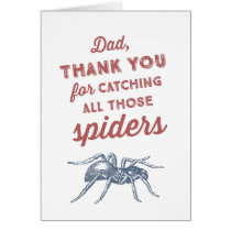 Funny Spider Father's Day Card