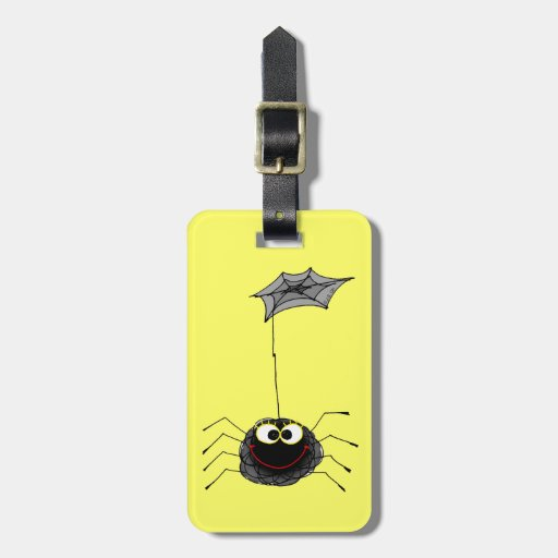 funny spider luggage tag