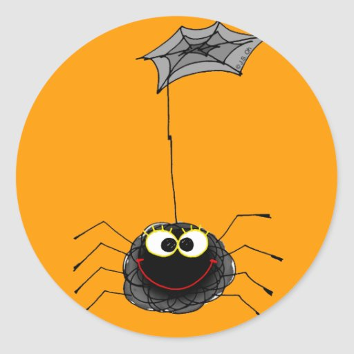 Funny spider stickers