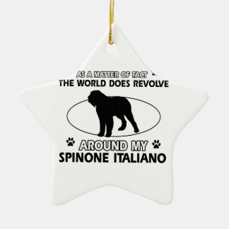 Funny spinone italian designs ceramic ornament
