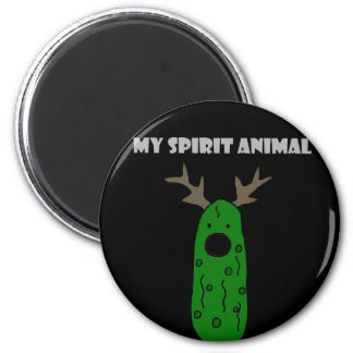 Funny Spirit Animal Pickle with Antlers Magnet