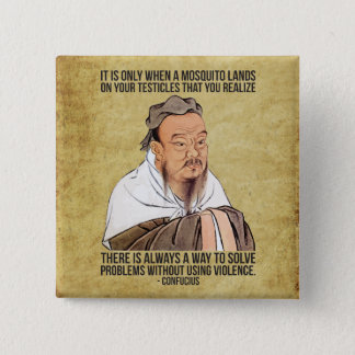 Funny Spiritual Quote - Mosquito on Testicles Pinback Button