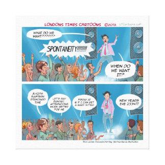 Funny Spontaneity Coach Canvas Print