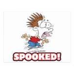 funny SPOOKED cartoon Postcard
