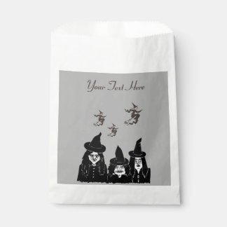 funny spooky black witches scary halloween fun favor bag