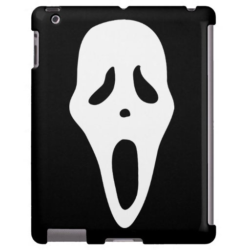 Funny Spooky Ghost Scream Face - Happy Halloween