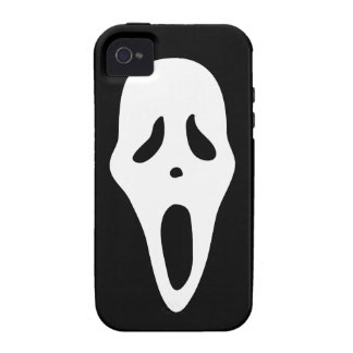 Funny Spooky Ghost Scream Face - Happy Halloween Case-Mate iPhone 4 Cases