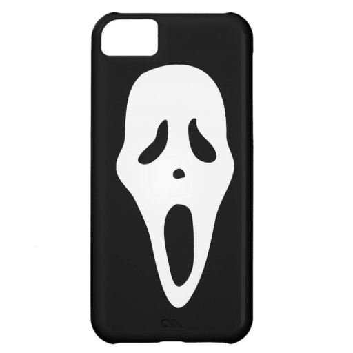 Funny Spooky Ghost Scream Face - Happy Halloween iPhone 5C Case