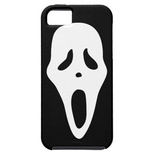 Funny Spooky Ghost Scream Face - Happy Halloween iPhone 5/5S Case
