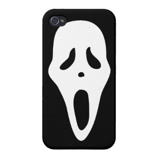Funny Spooky Ghost Scream Face - Happy Halloween Case For iPhone 4