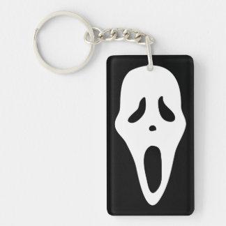 Funny Spooky Ghost Scream Face - Happy Halloween Acrylic Keychain