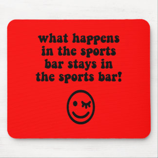 Funny sports bar mouse pad